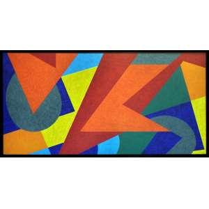 CLAUDIO TOZZI - Geométrica - Acrílico sobre tela - 90 x 180 CM - Assinatura canto inferior direito/Assinatura no verso
