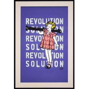 OZI - Revolution - Tinta Spray sobre tela - 75 x 47 CM - Assinatura canto inferior direito