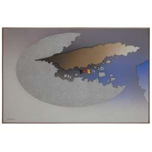 KENJI FUKUDA - Abstrato - Acrílica sobre tela - 100 x 170 CM - Assinatura canto inferior esquerdo/Assinatura no verso