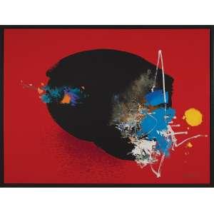 YUGO MABE - Abstrato - Óleo sobre tela - 121 x 160 CM - Assinatura canto inferior direito/Assinatura no verso