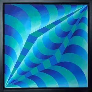 YULI GESZTI - Composição - Acrílica sobre tela - 60 x 60 CM - Assinatura no verso