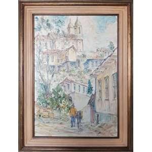 ARNALDO NAVAJAS - Ouro Preto - Óleo sobre tela - 73 x 50 CM - Assinatura canto inferior direito