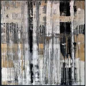 CRISTINA DEMÉTRIO - Abstrato - Acrílica Sobre Tela - 100 x 100 CM - Assinatura canto inferior direito