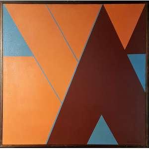JUDITH LAUAND - Composição - Óleo sobre tela - 60 x 60 cm - ACID (Esta obra pertenceu ao acervo da Galeria Tema Arte Contemporânea)