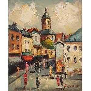 H. LEVIER, Saint Pierre de Montmartre - Óleo sobre tela - 27x22 cm - ACID
