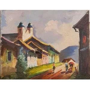 H. LEVIER, Ouro Preto - Óleo sobre tela - 22x27 cm - ACIE (No estado)