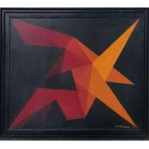 ANTONIO FERRARI, Composição - Óleo sobre madeira - 37x45 cm - ACID 1974