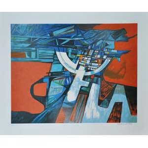 ROBERTO BURLE MARX, Composição - Gravura numerada - 70x80 cm - ACID