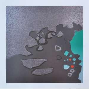 Kenji Fukuda - Composição Multicores - Serigrafia - 70 x 70 CM - A.C.I.D