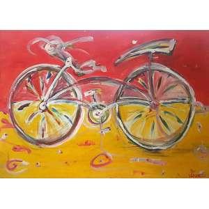 LUIZ CAVALLI, Freebike II - Acrílica sobre tela - 80x120 cm - ACIE e VERSO
