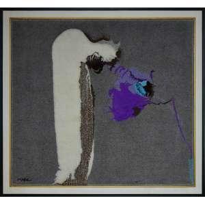 YUGO MABE - Abstrato - Tapeçaria - 160 x 160 CM - Assinatura canto inferior direito / Assinatura no verso