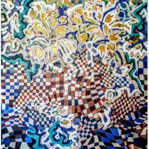 GERALDO TEIXEIRA- Labirinto I - 100 x 90 - ano 2015 -