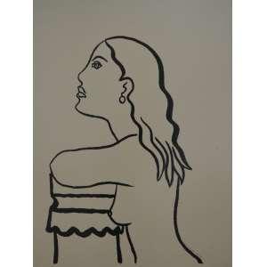Di Cavalcantititulo Mulher de perfil Tam. 60 x 46 Serigrafia