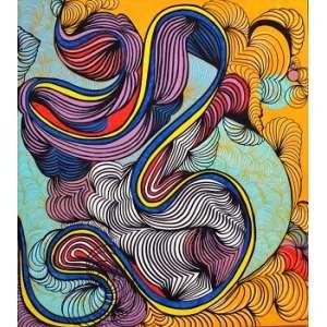 Taly Cohen - Summertime- Técnica mista -Tam 100 cm x 90 cm- Ano 2018