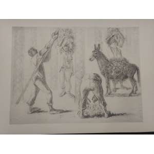 Cândido Portinari Carnaúba -33 x 47 - Sem moldura - È uma reprodução da obra Carnaúba, feito pela editora Cultrix da Série Mestres do Desenho