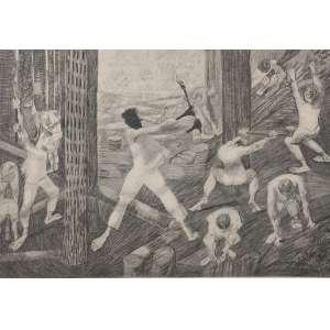 Cândido Portinari - Lenhadores -33 x 47 - Sem moldura - È uma reprodução da obra Carnaúba, feito pela editora Cultrix da Série Mestres do Desenho