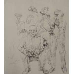 Cândido Portinari - Músicos - 33 x 47 - Sem moldura - È uma reprodução da obra Carnaúba, feito pela editora Cultrix da Série Mestres do Desenho