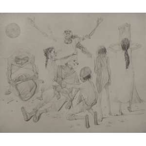Cândido Portinari - Morto -33 x 47 - Sem moldura - È uma reprodução da obra Carnaúba, feito pela editora Cultrix da Série Mestres do Desenho
