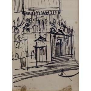 Emaric Marcier -Veneza- Desenho