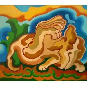 Wander Melo - O cão - O.S.T. - tam 90 x 80 <br /><br />ESTA OBRA ESTA NO ATELIER DO ARTISTA E SERÁ ENVIADA DIRETAMENTE PARA O ARREMATANTE JUNTO COM CERTIFICADO DE AUTENTICIDADE.
