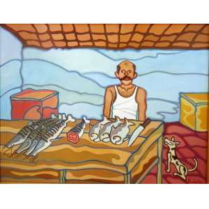 Wander Melo - Peixeiro 2007 - A.S.T. - tam 90 x 70 <br /><br />ESTA OBRA ESTA NO ATELIER DO ARTISTA E SERÁ ENVIADA DIRETAMENTE PARA O ARREMATANTE JUNTO COM CERTIFICADO DE AUTENTICIDADE.