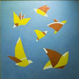 Darlan Rosa titulo Rede aZul ano 1999 ( 100 x 100 cm)