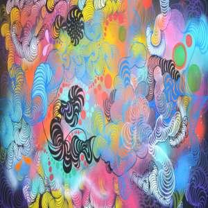 Taly Cohen - Titulo T.S - Spray, acrílica ,giz pastel e posca sobre tela - tam 100 x 150 ano 2018 200cm x 100cm - ano 2017