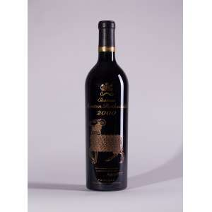 Château Mouton Rothschild 2000<br>Pauillac - Bordeaux - França<br>RP 96+<br>Quant: 1 gf(s) - 750 ml
