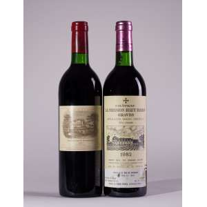 Horizontal 1982 Bordeaux - La Mission Haut Brion e Lafite Rothschild <br>Bordeaux - França<br>RP 97+, RP 100<br>Quant: 2 gf(s) - 750ml