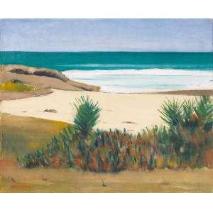 José Pancetti<br>Marinha - Da Série Saquarema<br>óleo sobre tela<br>46 x 54,5 cm<br>assinada canto inferior esquerdo e verso<br>1955