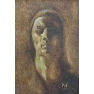Ismael Nery<br>Figura<br>óleo sobre tela<br>42 x 29,5 cm<br>assinada canto inferior direito<br>1924