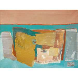 Yolanda Mohalyi<br>Sem título<br>óleo sobre tela<br>90 x 120 cm<br>assinada canto inferior direito