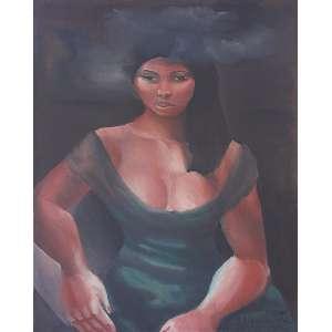 Emiliano Di Cavalcanti<br>Mulata<br>óleo sobre tela<br>81 x 65 cm<br>assinada canto inferior direito