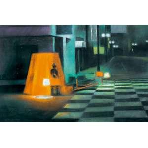 Gregório Gruber<br>Sem título<br>pastel<br>70 x 100 cm<br>assinada canto inferior esquerdo<br>1982