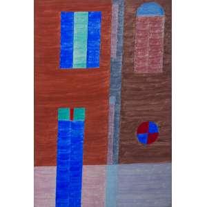 Alfredo Volpi<br />Sem título<br />têmpera sobre tela<br />103 x 68 cm<br />assinada no verso<br />década 70<br />Registrada no Projeto Volpi IAVAM 2706. Reproduzida no Catálogo de obras 2015, página 453.