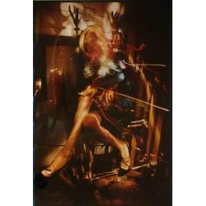 Ruddy Candillon - Miss Loca: Mulher sentada com as pernas cruzadas. Assinatura do autor, tiragem, data e data de impressão no c.i.d à tinta. Dimensões 61 x 42,5 cm. Autor: Candillon, Ruddy.