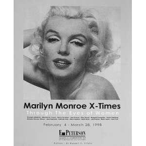 Marilyn Monroe X-Time: Cartaz de Exposição de fotos de Marilyn com fotografia de Bert Stern. Dimensões 56 x 43 cm. Autor: Stern, Bert.