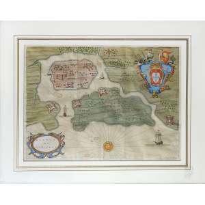 Vincent Hubert - Pianta di S. Vicenzo: Título no c.i.e. do mapa. Nome H. Vincent gravado no c.i.d. e brasão na parte superior direita. Dimensões 39 x 51 cm. Autor: Hubert, Vincent.