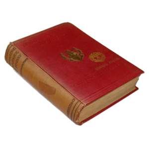 Submarine Warfare of To-Day: Livro de capa vermelha com duas figuras em dourado e dois brasões referentes ao prêmio marsh prize. Lombada Marrom. Dimensões 20 x 14 cm. Autor: Domville-Fife, Charles W.
