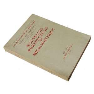 Nouvelles Perspectives en Microphysique: Brochura clara com título em vermelho. Dimensões 19,50 x 14,50 cm. Autor: Broglie, Louis de.