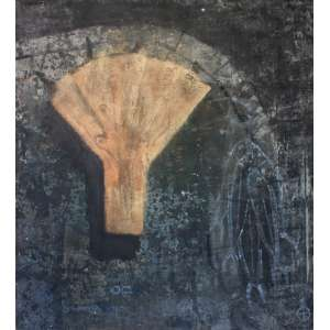 Daniel Senise (1955) - Sem título - acrílica sobre tela - 230 x 210 cm - assinada no verso - 1988