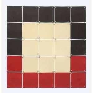 Paulo Roberto Leal (1946 - 1991) - Sem título - papéis recortados e linha de seda costurada. - 77 x 77 cm (dimensões variáveis) - assinada canto inferior direito - 1981