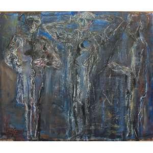 Iberê Camargo (1914 - 1994) - Fantasmagoria III - óleo sobre tela - 200 x 236 cm - assinada canto inferior esquerdo e dorso - 10.01.1987