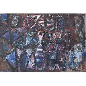Iberê Camargo (1914 - 1994) - Conjunto - óleo sobre tela - 100 x 141 cm - assinada canto inferior direito e dorso - 10.12.1979 RIo