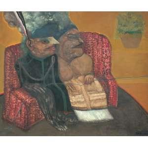 Siron Franco (1947) - Sem título - óleo sobre tela - 110 x 130 cm - assinada canto inferior direito e verso - 1977 Madrid