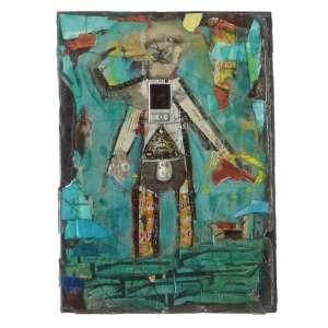Sesper (1973) - He consume but he can't use - técnica mista - 65 x 43 cm - 2010 - Etiqueta Galeria LOGO.
