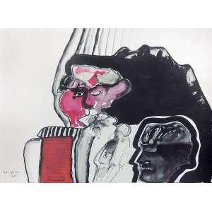 Carlos Vergara (1941) - Sem título aquarela e nanquim 50 x 67 cm assinada canto inferior esquerdo 1965 Estimativa: R$ 20.000 - 30.000