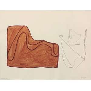 Ester Grinspum (1955) - Stultifera Navis aquarela e lápis sobre papel 115 x 150 cm assinada canto inferior direito 1986 Estimativa: R$ 30.000 - 40.000