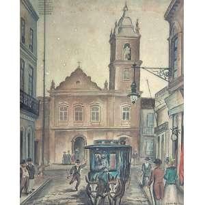 Antonio Gomide (1895 - 1967) - Sem título aquarela e nanquim 24 x 19,5 cm assinada canto inferior direito 1942 Estimativa: R$ 20.000 - 25.000