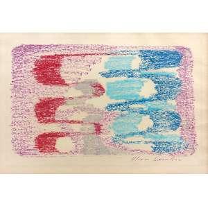 Maria Leontina (1917 - 1984) - Sem título lápis de cera 19 x 28,5 cm assinada canto inferior direito Estimativa: R$ 14.000 - 18.000